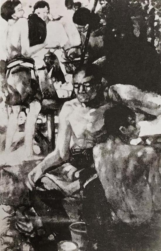 《民间》,林风眠,油画,1927年