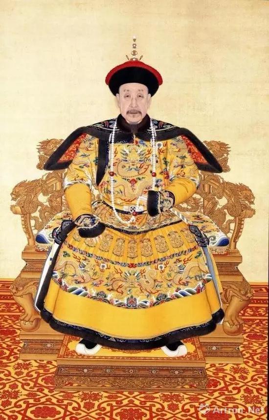 ▲清乾隆皇帝像 藏于故宫博物院