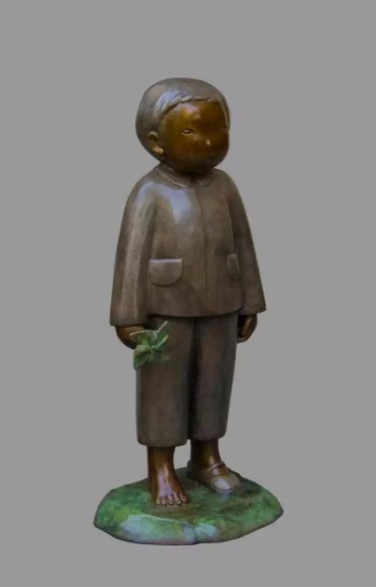 《亲爱的小孩》16×15×39cm 青铜着色 2017