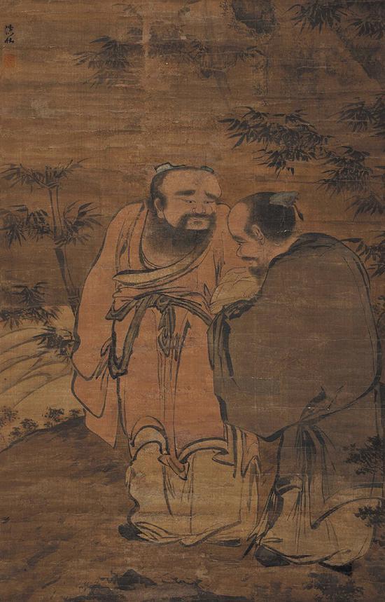 (明)郑文林 二老图
