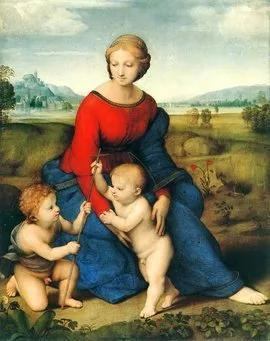 拉斐尔 草地上的圣母 113×88cm维也纳艺术史博物馆藏