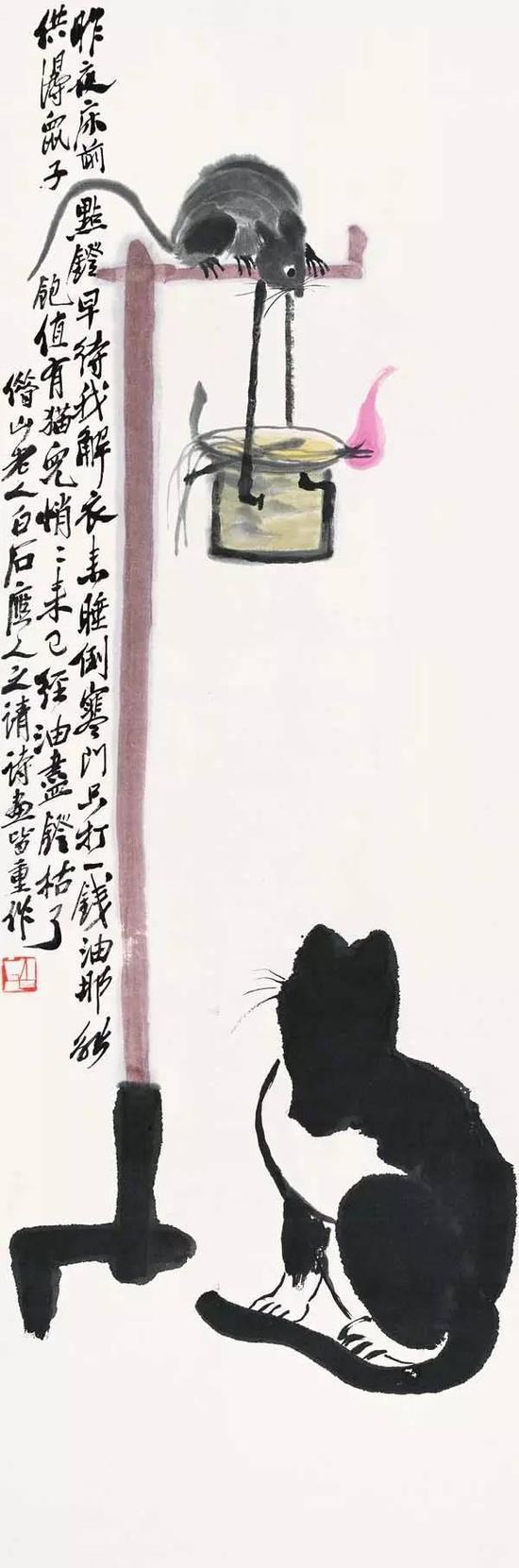 油灯猫鼠图