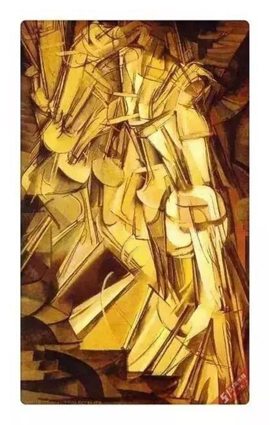 杜尚:《下楼梯的裸女》,1912