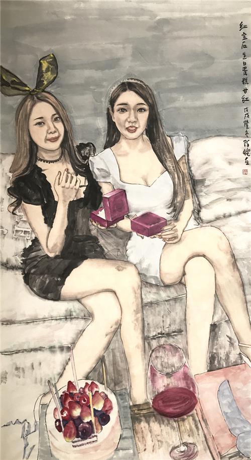 《激情 柔情 隽美 壮美——解读陈恺的水墨人物画作品》