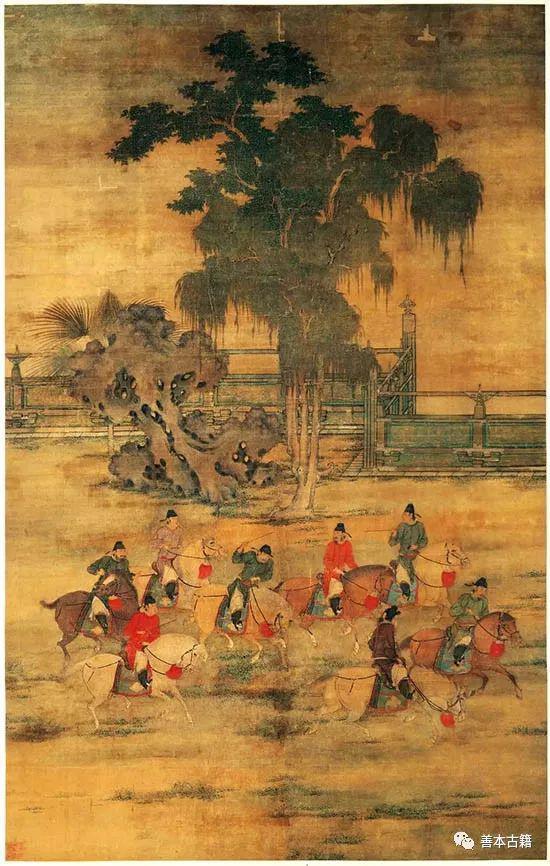 五代梁 赵喦 《八达春游图》