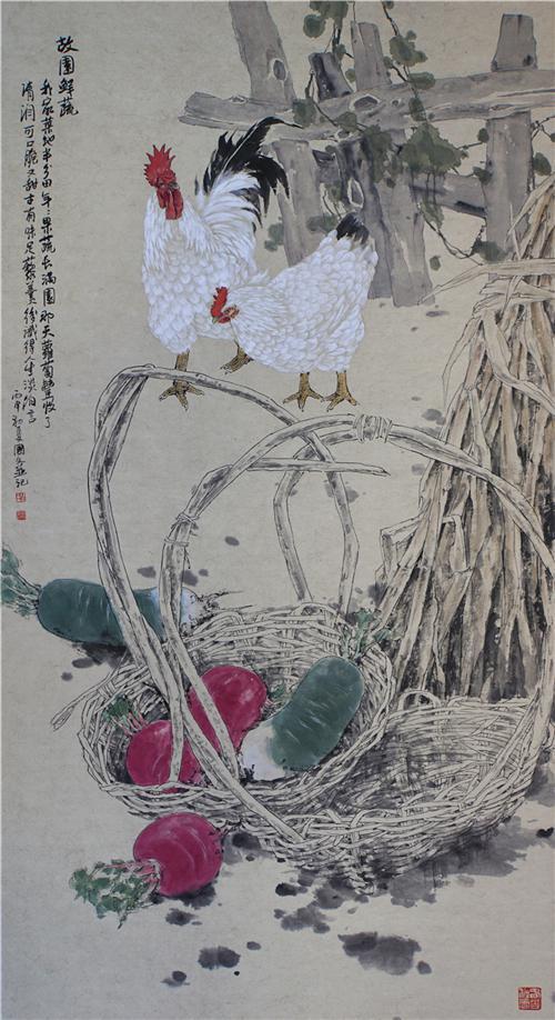 《故园鲜蔬》66×133cm