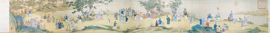 《太平春市图》台北故宫博物院藏 233.5cm*33cm