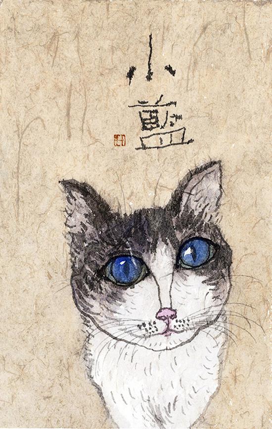 李知弥画作《小蓝》
