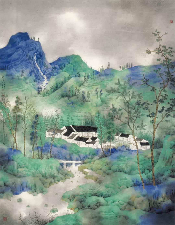 《重彩的雨季之一》180cm×145cm   2009第十一届全国美术作品展创作奖暨获奖作品提名展作品