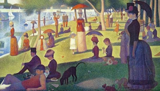 法国 乔治·修拉 大碗岛上的星期日下午 1884-1886