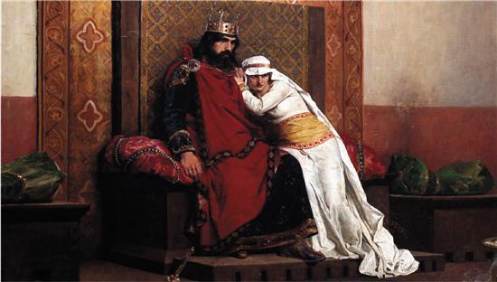 让·保罗·劳伦斯 虔诚的罗伯特二世被逐出教会(局部) 1875年 奥赛美术馆