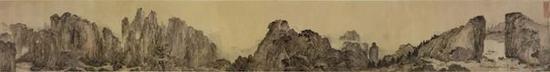 写实性空间之游观的表现 :明 叶澄《雁荡山图卷》