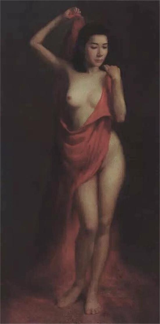 《红韵》油画