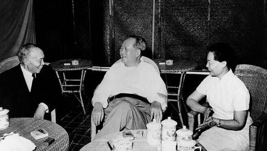 毛泽东与李宗仁夫妇