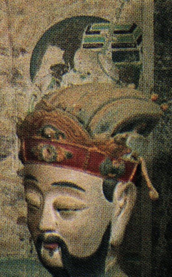 经变画中的猴行者(塑像后)