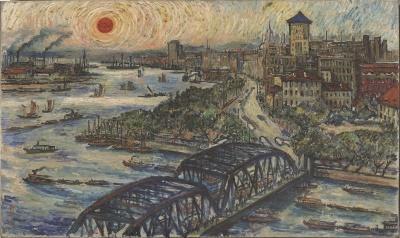 刘海粟《外滩风光》,油画,1964