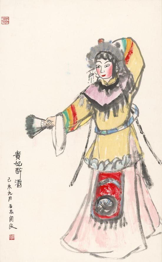 《贵妃醉酒》,关良, 中国画