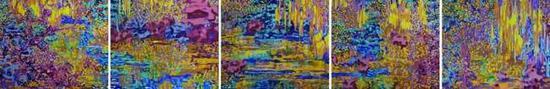 《中国花园》 布面油画 50cm x 60cm x5 2016年