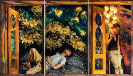 喻红,迷夜,油画,2013