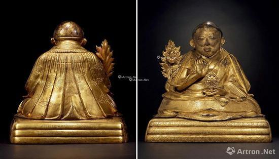 NO.32 19/20世纪初 铜鎏金九世班禅曲吉尼玛像