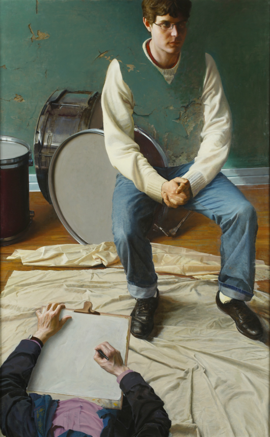 徐芒耀《鼓手》160×100cm2016年