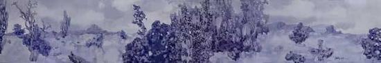 《中国花园》 布面油画 60cm x 390cm 2010年