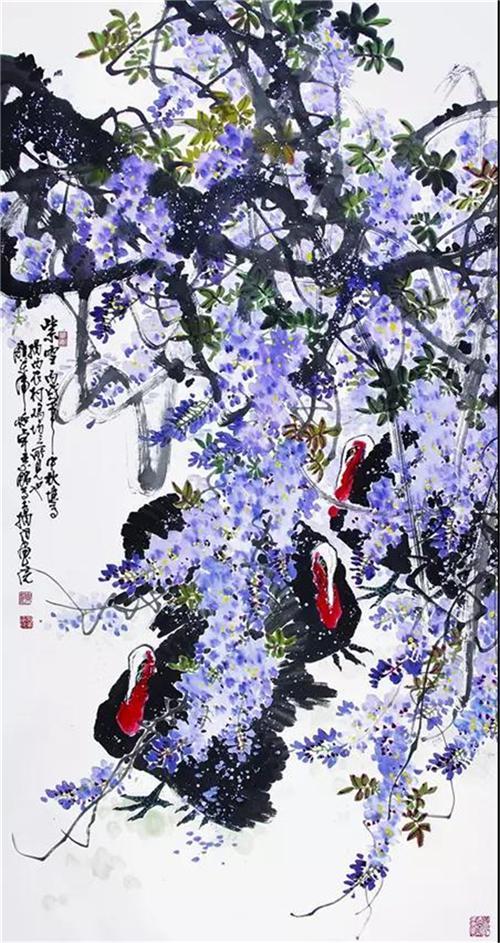 《紫雪》138×68cm 2006年