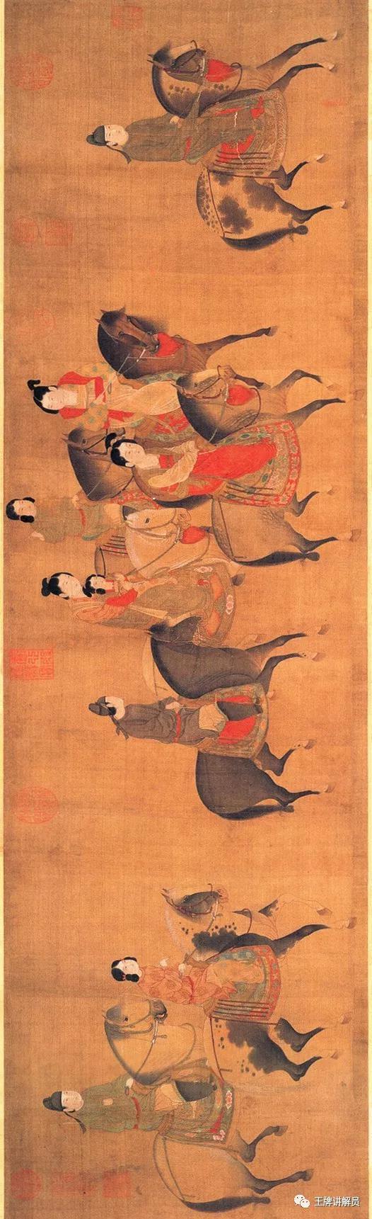 佚名《丽人行图》,明代