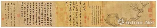 苏轼《木石图》手卷 水墨纸本 全卷27.2×543cm