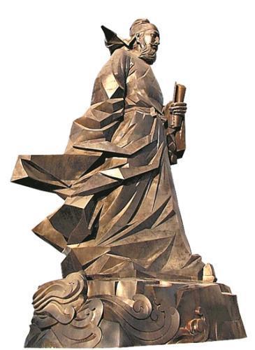 孟浩然雕像。