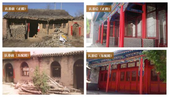 忻州的弘佛寺在认养修缮前后