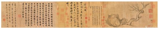 苏轼《木石图》,成交价:4.636亿港元