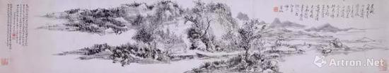 黄宾虹《东涯老屋图》