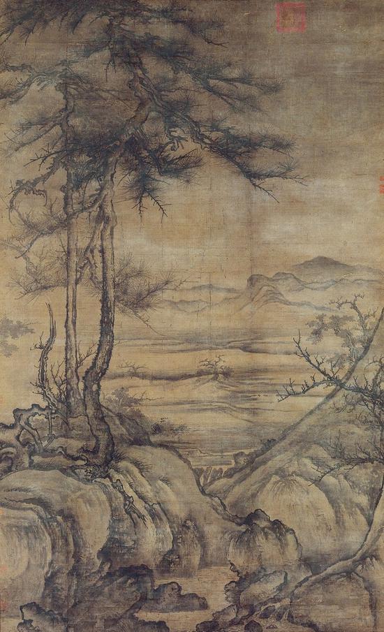 (传)李成的《乔松平远图》 日本澄怀堂美术馆藏