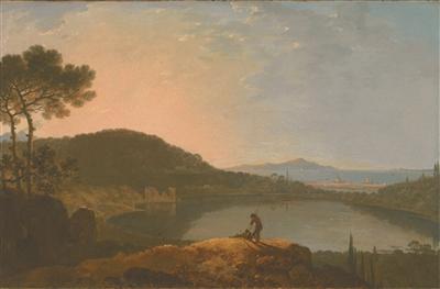 《阿佛纳斯湖和卡普里岛》 理查德·威尔逊 约1760