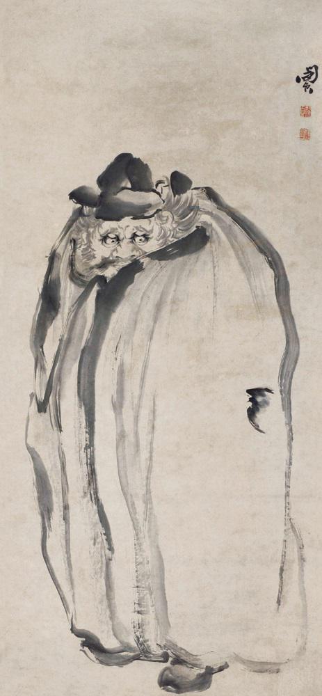 (清)闵贞 钟馗图