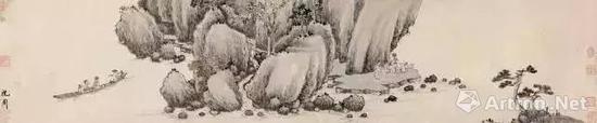 明 沈周 前后赤壁赋图 邓拓旧藏 现藏中国美术馆