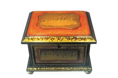 19世纪 红黑漆描金人物故事图梳妆盒2 陈家祠藏