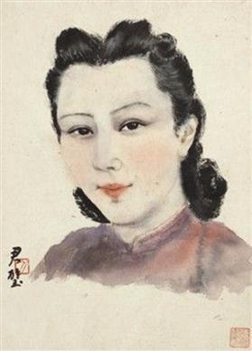 《陈君慧夫人像》
