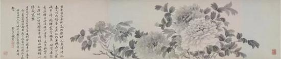 清 钱维城《牡丹图卷》