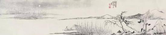 华喦,《秋江泛月图》,1748年。图片:致谢波士顿美术馆