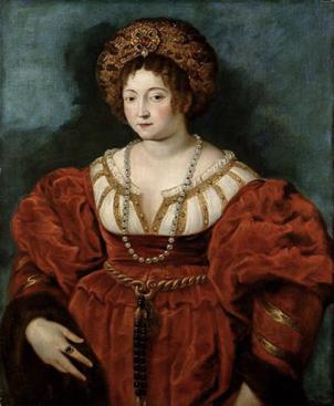 提香为伊莎贝拉·德·埃斯特侯爵夫人所绘第一幅肖像