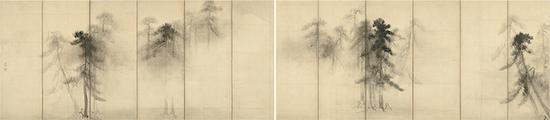 国宝 长谷川等伯画 松林图屏风 安土桃山时代(16世纪) 东京国立博物馆藏