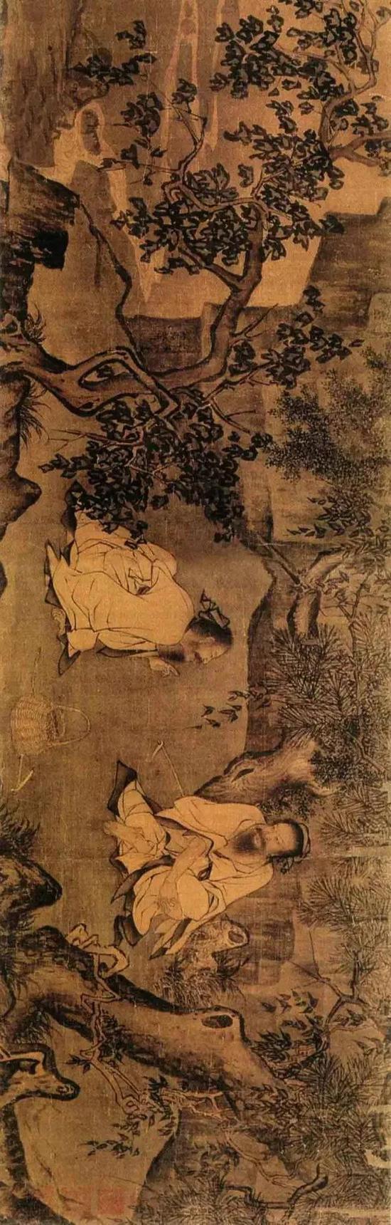 《采薇图》宋 李唐 绢本墨笔 北京故宫博物院藏