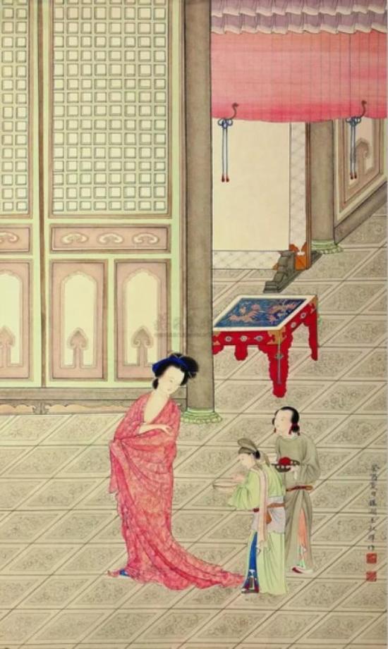 王叔晖:《杨妃出浴图》(年份不详)