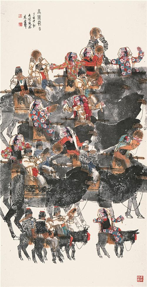 《高原节日》180×96cm 2007年