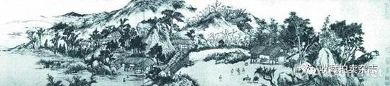 王宸《借园修禊图》(局部),1793年,南京博物院藏