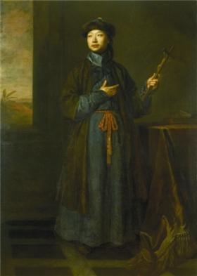 1687年詹姆士二世令宫廷画师为沈福宗画的像