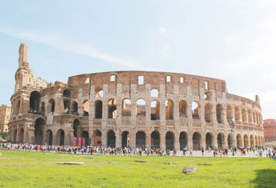 古罗马斗兽场遗址