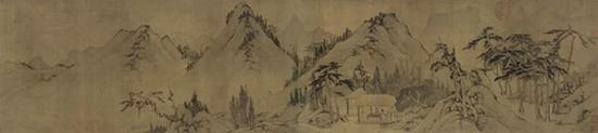 句曲山房 画心部分 上海博物馆所藏